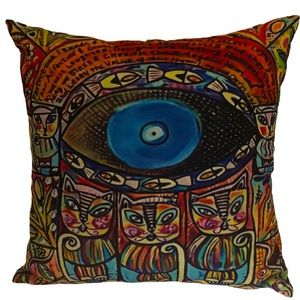 New! Evil Eye Colorful God Luck cushion cover
